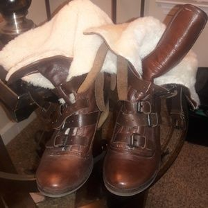 Dolce Vita chocolate leather boots